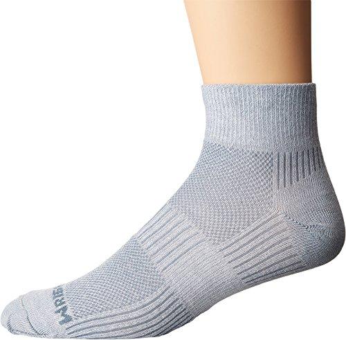 Wrightsock Unisex Coolmesh II Quarter Light Grey Sock