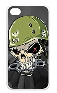 Gdragonhighfive Back Case compatible with Apple iPhone 4 / 4S TPU, Five Finger Death Punch - Warhead Poster Slim Fit