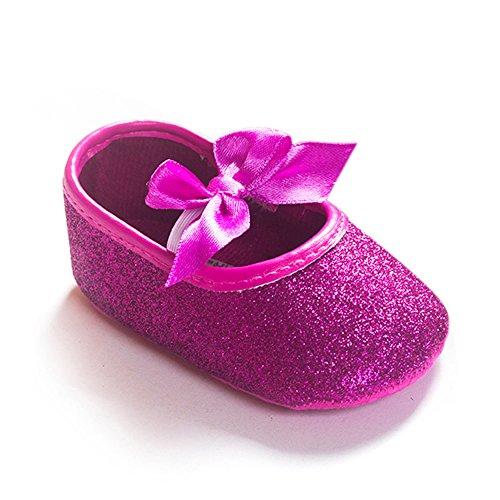 Lemandy bebé primera zapatos de senderismo Zapatos de bañador para bebé con mariposa BS001 rosa Talla:11cm fucsia