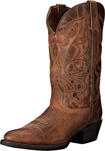 Laredo Women's Maddie R Toe Cowboy Boot 51112 (6.5M) Distressed ()