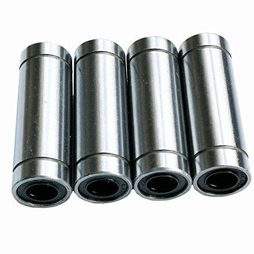 Sumje LM8LUU Longer 8x15x45mm 8mm Linear Bearing Ball Bushing Motion Bearings for 3D Printer CNC & Other Applications Pack of 4