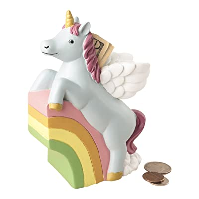 Fashioncraft Unicorn Rainbow Dollar and Coin Change Bank for Kids: Kitchen & Dining