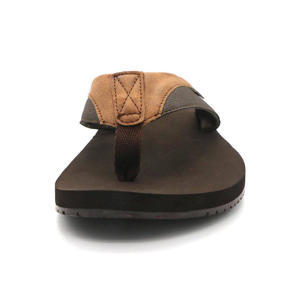 HUMMOO Men's Classic Summer Flip Flops - Thong Athelic Sandals (42 EU/ 9 US, Brown) by HUMMOO (Image #5)