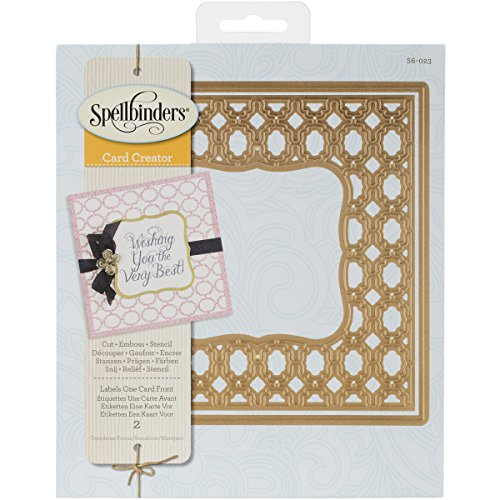 Spellbinders S6-023 Labels One Card Front Etched/Wafer Thin Dies Nestabilities Card