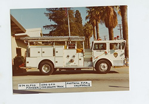 1974 American LaFrance Fire Truck Original Small Photo Foothill - Foothills Fire