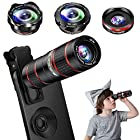 Phone Camera Lens Kit, 5 in 1 Cell Phone Lens - 12X Zoom