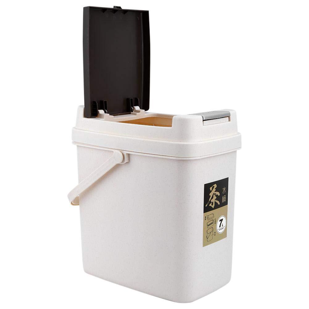 Plastic Trash Can Tea Residue Filter Trash Can Portable Trash Can Tea Residue Filter Bucket Drainage Bucket Waste Tea Bucket