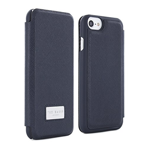 Ted Baker iPhone 7/6/6s Card Slot Folio Phone Case, Navy, Aries Navy 41731 from AW16 Collection (Card Baker)