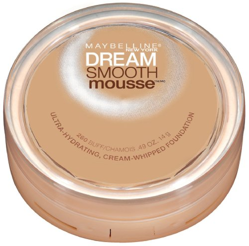 Maybelline New York Dream Smooth Mousse Foundation, Buff, 0.49 Ounce - Smooth Buff