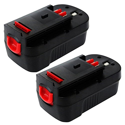 Enegitech 18V 3.0Ah Black & Decker Replacement Battery for Power Tool HPB18 244760-00 A1718 A18 A18E HPB18 NST2118 HPB18-OPE FS18FL FSB18 Firestorm FS180BX FS18BX A18 (Slide Style), 2 Pack