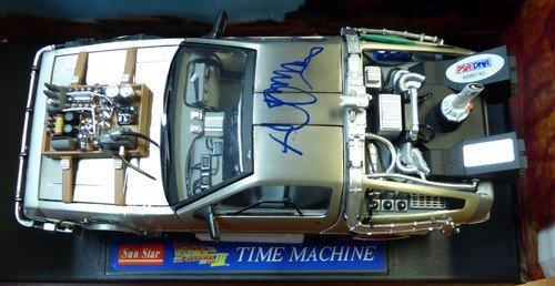 Michael J Fox Signed Back To The Future Die-Cast DeLorean Car 1:18 Scale - PSA/DNA Authentication - Celebrity Autographs
