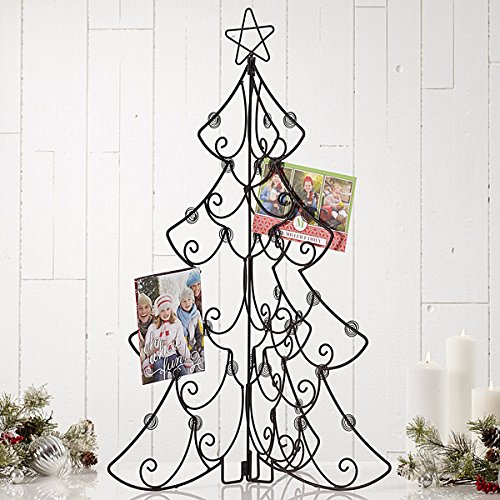 Scorpion Large Tri Fold Christmas Tree Card Holder and Display 31.75 Inch (Stand Holiday Card Holder)