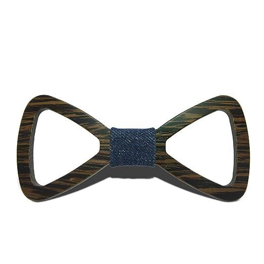 Happy-L Feliz-l Corbata de moño de Madera para Mujer Corbata de ...