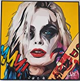 GLAGOODS Harley Quinn Suicide Squad Cartoon Pop Art Canvas Framed Wall Art Prints Poster Vinyl Gift Quotes