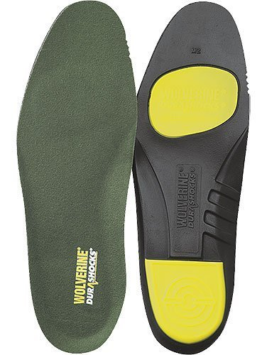 Wolverine Insoles: Durashocks Green Cushion Insoles 03004 by (Wolverine Durashock Insoles)