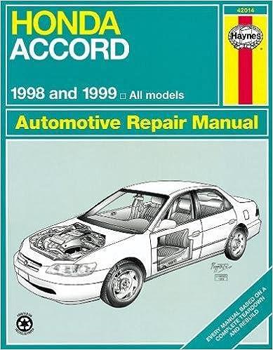 Honda Accord 1998 2002 (Haynes Repair Manuals) 1st Edition