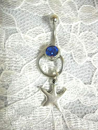 Charm Knocker Door (Starfish Charm ON Door Knocker Captive Slave Style Blue Belly Button Button)