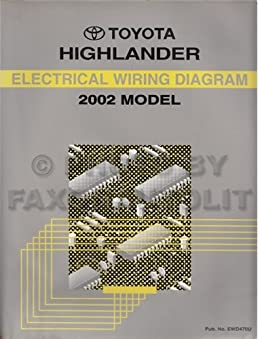 toyota highlander 2002 model electrical wiring diagram toyota rh amazon com 2003 Toyota Highlander Exhaust System Diagram Toyota Highlander Engine Diagram