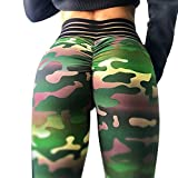 Meilidress Womens Ruched Butt Lifting Leggings High Waisted Workout Sport Tummy Control Gym Yoga Pants (X-Large, 1-Army Green)