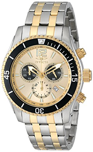 Invicta Men's 0622 Invicta II Chronograph 18k Gold-Plated and Silver-Tone Stainless Steel Watch