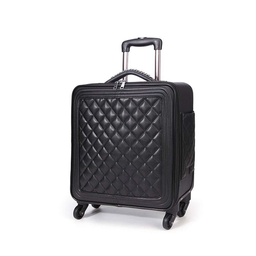 ローリング荷物旅行トロリーバッグスーツケーススーツケース荷物を運ぶPUトロリーケース B07MD2TJDP  20inchF