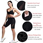 TYUIO High Waist Yoga Shorts Women Gym Workout Short Pant Leggings with Pockets