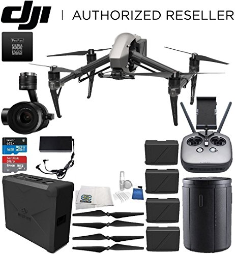 DJI Inspire 2 Quadcopter Premium Combo w/Zenmuse X5S Camera & CinemaDNG & Apple ProRes Licenses Ultimate Bundle