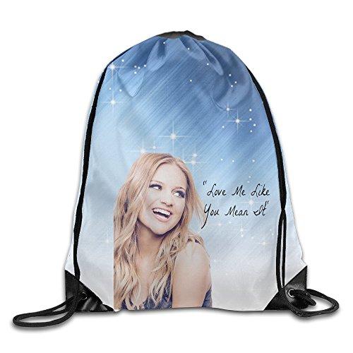 2015 CMA Awards Nominees Kelsea Ballerini Drawstring Backpack Bag White For Sale