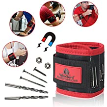 PREMIUM Magnetic Wristband / Armband with Strong Magnets for Holding Screws, Nails, Bolts, Drilling and Screwdriver Bits set - for Holding Sewing Tools - The Best Tools Gifts For Men - Handyman - Dad