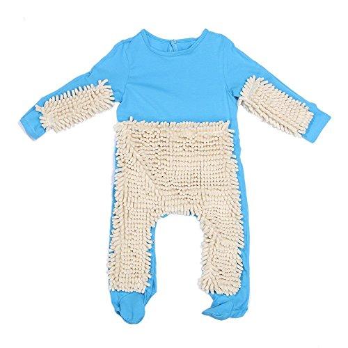 Baby One-Piece Suit,amazingdeal Kids Cotton Mop Clothes Crawling Clothing(Royal Blue Beige 80cm)