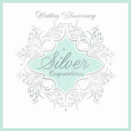 25th Silver Wedding Anniversary Invitations (Pack of 6 Quality Cards & Envelopes) ()
