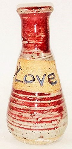 Vintage Old Pottery - Aunt Chris' Pottery - Hand Made Clay - Message Bottle - A Word