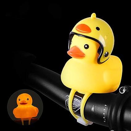 Syxbb Niedliche Kleine Gelbe Ente Fahrradklingel Fahrradhupe Helm Kann Ausgetauscht Werden Use Kunststoff Resin Fahrradzubehör Elektrisch Autodekoration Der Spielwarenauto Dekoration Der Kinder S Küche Haushalt