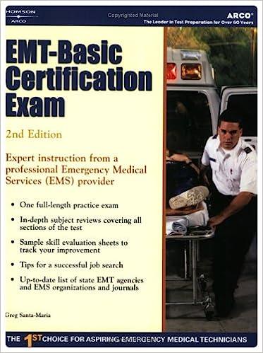 EMT - Basic Certification Exam (2nd Edition): 9780768914122 ...
