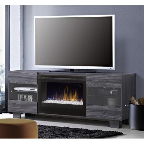 Cheap DIMPLEX Electric Fireplace TV Stand Media Console Space Heater and Entertainment Center with Glass Ember Bed Set in Carbon Finish - Max #GDS25G5-1651CW Black Friday & Cyber Monday 2019