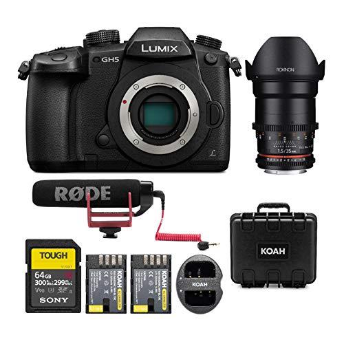 PANASONIC LUMIX GH5 Body 4K Mirrorless Camera w/Rokinon Cine DS DS35M-MFT 35mm T1.5 (MFT) Bundle