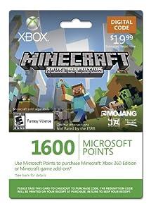 Amazon.com: Xbox LIVE 1600 Microsoft Points for Minecraft