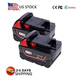 VANON 4.0Ah 18V Li-ion Rechargeable Replacement Battery for Milwaukee M18 M18B 48-11-1820 48-11-1850 48-11-1828 48-11-10 Cordless Power Tools (2 Pack)