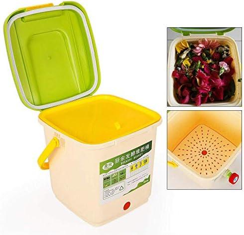 キッチンコンポストビン9 L廃棄物フェルマーPP材料コンポストコンテナーキッチンコンポスター