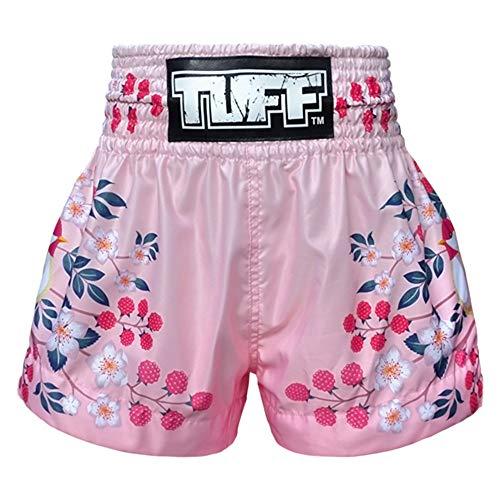Tuff Boxing Muay Thai Shorts Trunks (TUF-MS632-PNK, S)