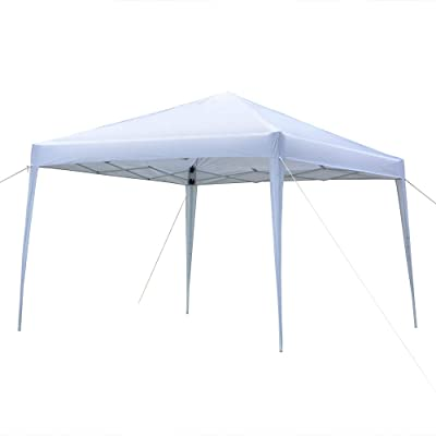 Festnight 10 x 10 ft Garden Outdoor Gazebo Canopy Folding Pop Up Heavy Duty Steel Frame Patio Party Wedding Tent BBQ Camping Shelter Pavilion Cater Events with Carrying Bag: Sports & Outdoors
