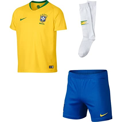 d30c3857e Image Unavailable. Image not available for. Color  Nike 2018-2019 Brazil  Home Little Boys Mini Kit