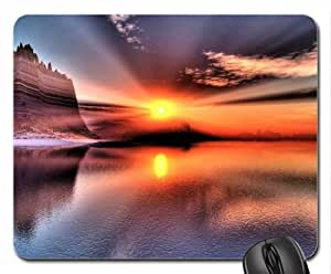 Beautiful-reflection-of-a-sunset-over-water Mouse Pad, Mousepad (Sunsets Mouse Pad)