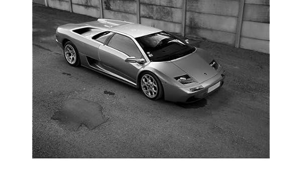 Amazon Com Lamborghini Diablo Vt Right Front Black And White Hd
