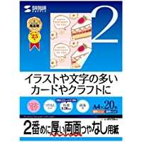 SANWA SUPPLY JP-ERV2NA4 inkjet paper, two-sided printing TokuAtsu (japan import)