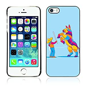 Colorful Printed Hard Protective Back Case Cover Shell Skin for Apple iPhone 5 / 5S ( Funny Pinata Illustration )