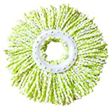 360 Rotary Mop Head Replacement Head Easy Magic Microfiber Spinning Floor Mop Head by Misaky (Green)