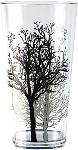 (Corelle Coordinates by Reston Lloyd Timber Shadows Acrylic Tumbler Glasses, 19-Ounce, Set of 6 )