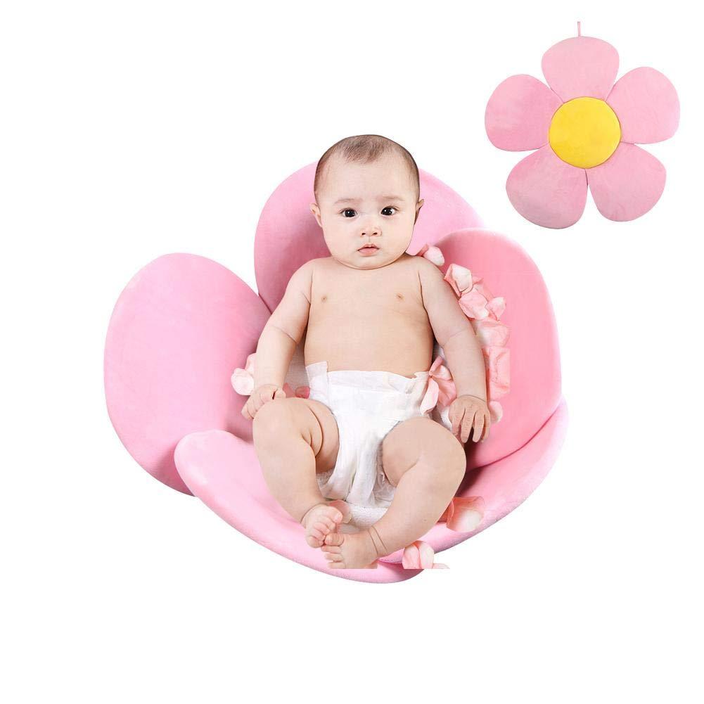 PER Flower Baby Bath Mat Bathtub Seats Portable Bath Tub Folding Pads Infant Bath Cushions-Blue