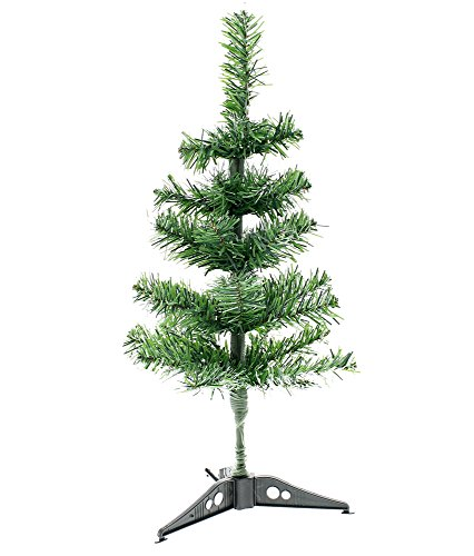 Canadian Green Artificial Christmas Tree with Stand, Green, Medium,18 Inch